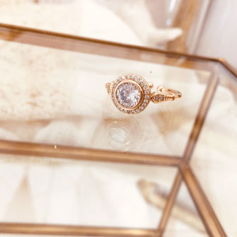 bague gwapita oxyde de zirconium fiançailles blanc brillant diamants doré or  LÉONIE GRAND MERE