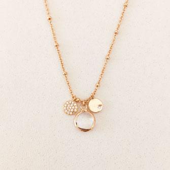 collier doré gwapita wapita bijoux createur creatrice instagram  necklace jewelry plaqué or fin fleur Selena bijoux femme printemps  cristal femme bijoux