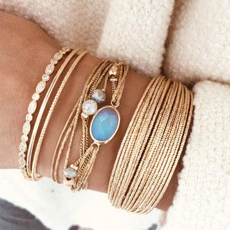 bracelet Jules Gwapita bijoux ruban fin perles