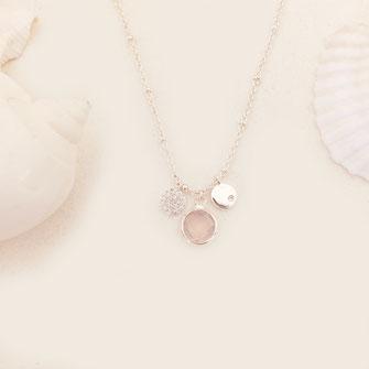 collier rose opal femme gwapita Igor necklace