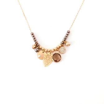 collier choker necklace gwapita bijoux français france createur fin doré plaqué or gris pampilles charms
