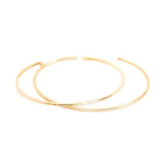 gwapita bijoux bracelets duo jonc deux joncs doré plaqué or fins