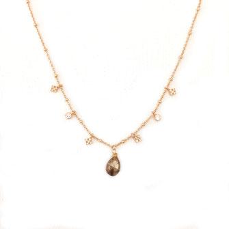 collier choker necklace gwapita bijoux français france createur fin doré plaqué or pierre fine pyrite