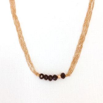 collier choker necklace gwapita bijoux français france createur fin doré plaqué or noir