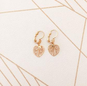 boucles d'oreilles doré gwapita bijoux créateur créatrice coeur