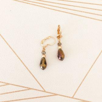 boucles d'oreilles goutte petite doré fin création créateur femme bijoux gwapita