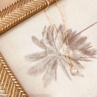 collier choker necklace gwapita bijoux français france createur fin doré plaqué or oval zirconium