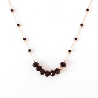 collier choker necklace gwapita bijoux français france createur fin doré plaqué or noir perles