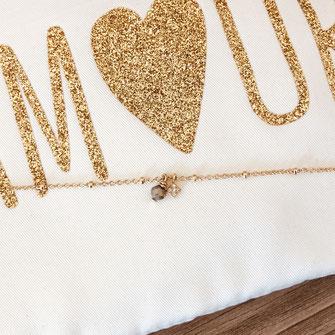 création française france bracelet doré fin plaqué or perles reflets bijoux femme  jewels  gwapita doré