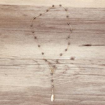 collier choker necklace gwapita bijoux français france createur fin doré plaqué or perles gris