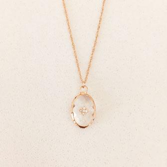 collier doré gwapita wapita bijoux createur creatrice instagram  necklace jewelry plaqué or fin cristal losange brillant diamants zirconium