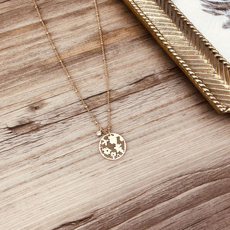 collier choker necklace gwapita bijoux français france createur fin doré plaqué or dentelle