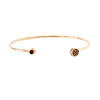 jonc bracelet gwapita fin doré vintage zirconium pierre jewelry jonc noir