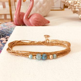 bracelet gwapita fin bijoux France creation finesse perles doré plaqué or  ALEX caraïbe