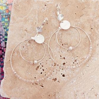 boucles d'oreille olivia gwapita argentté argent essentielles