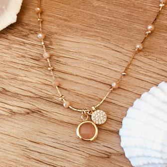collier choker necklace gwapita bijoux français france createur fin doré plaqué or nude perles