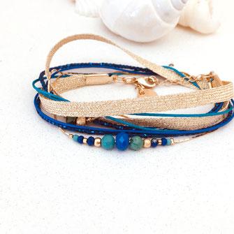 fernando bleu vert bracelet gwapita bijoux doré