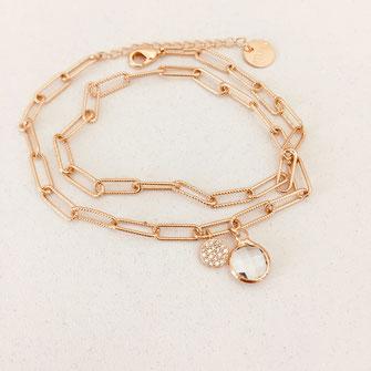 bracelet cristal chaine maillon doré gwapita bijoux wapita femme cadeau