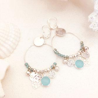 boucles d'oreilles essentielles best gwapita argent plaqué argent bleu