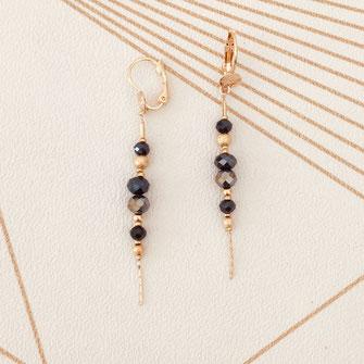 boucles d'oreilles gwapita chaine fine doré fin création créateur femme bijoux gwapita