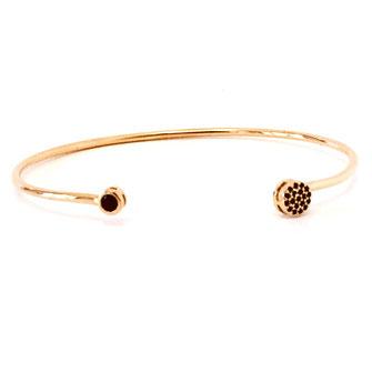 bracelet doré plaqué or fin Gwapita bijoux créatrice française france Teresa noir jonc