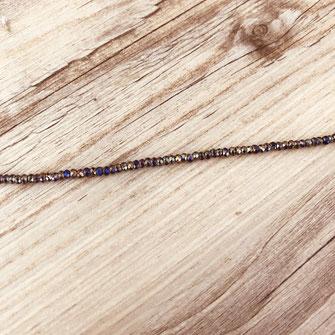 bracelet doré plaqué or fin Gwapita bijoux créatrice française france perles irisé