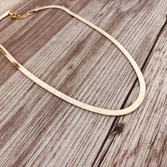 collier choker necklace gwapita bijoux français france createur fin doré plaqué or serpent chaîne chain