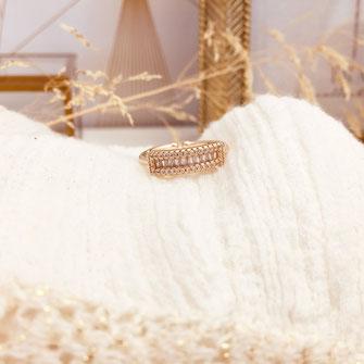 bague gwapita oxyde de zirconium fiançailles blanc brillant diamants doré or  Juliette