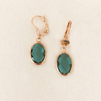 bo boucles d'oreilles gwapita wapita new collection creation bijoux mathilde perle d'eau douce jewels jewelry earrings gold plated plaqué or doré France vert ove pierre GIORGIA