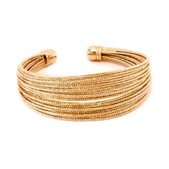 bracelet doré plaqué or fin Gwapita bijoux créatrice française france éden eden dorée manchette