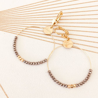 boucles d'oreilles créoles anneaux doré perles petites grandes gwapita bijoux