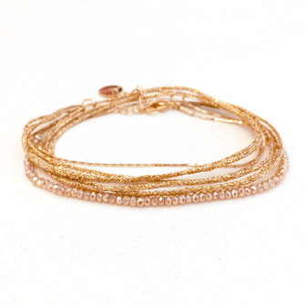 gwapita boucles d'oreille champagne nude création bracelet