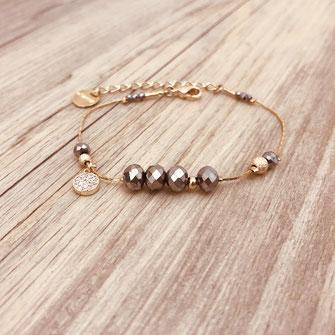 bracelet gwapita bijoux français france createur fin doré plaqué or perles