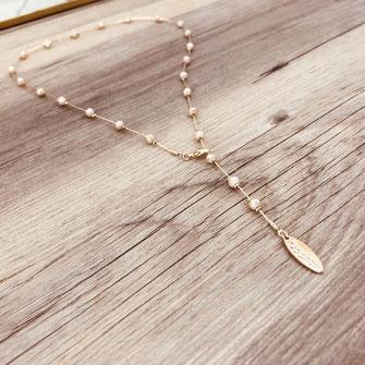 collier choker necklace gwapita bijoux français france createur fin doré plaqué or perles nude beige