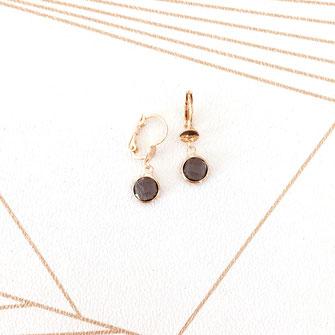 boucles d'oreilles gwapita petit Katia blanc zirconium pierres blanche bijoux or plaqué doré