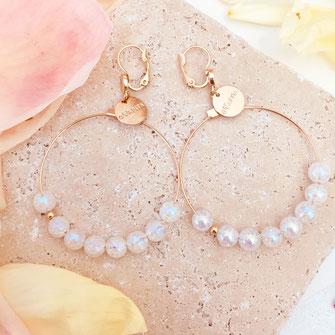 gwapita boucles d'oreilles bijoux création doré anita opal créoles