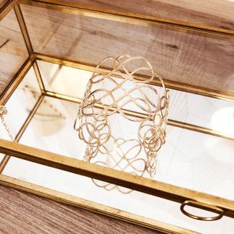 bracelet gwapita bijoux français france createur fin doré plaqué or perles  manchette