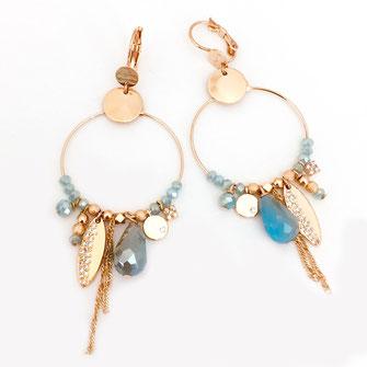 gwapita boucles d'oreilles bijoux création doré  caraibe valentina iconique