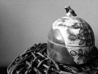 津軽の陶芸 蓋物
