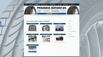 Pneuhaus Rütihof AG mit Online-Shop