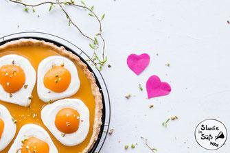 Spiegelei-Tarte mit Aprikosencreme