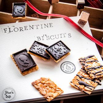Florentiner mit selbstgemachter Zartbitterschokolade