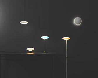 Die Shade Leuchten lassen sich in verschiedenen Raumsituationen einsetzen - Ob als Hänge-, Steh-, Wand- oder Tischleuchte. Immer eine smarte Wahl.
