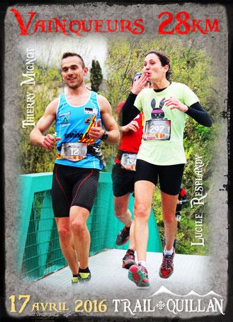 Trail Quillan 2016 - Thierry Mignot et Lucile Resplandy