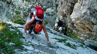 Klettern, Felswände der Ardèche Schlucht
