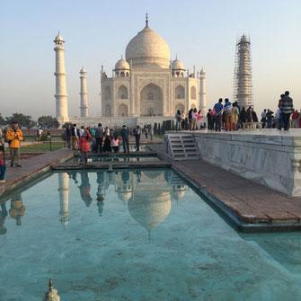 Taj Mahal Agra Textilrundreise Indien