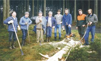 Am 27.12.1987 begannen die Holzfällarbeiten