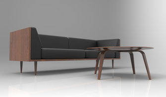Infografía 3D de mobiliario