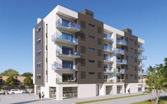 Render 3D arquitectura. Edificio en Murcia