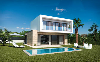 Render arquitectura. Urbanización Murcia
